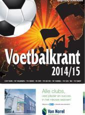 Voetbalkrant 2014-2015 voorpagina